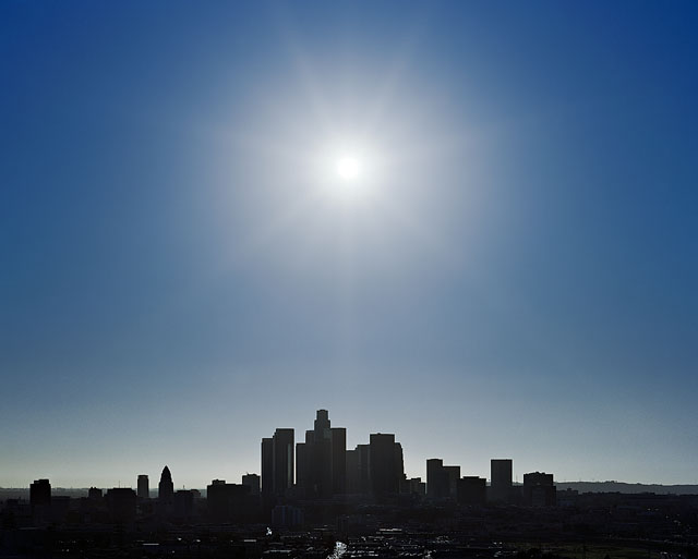 skyline image, los angeles, lincoln heights, silhuoette